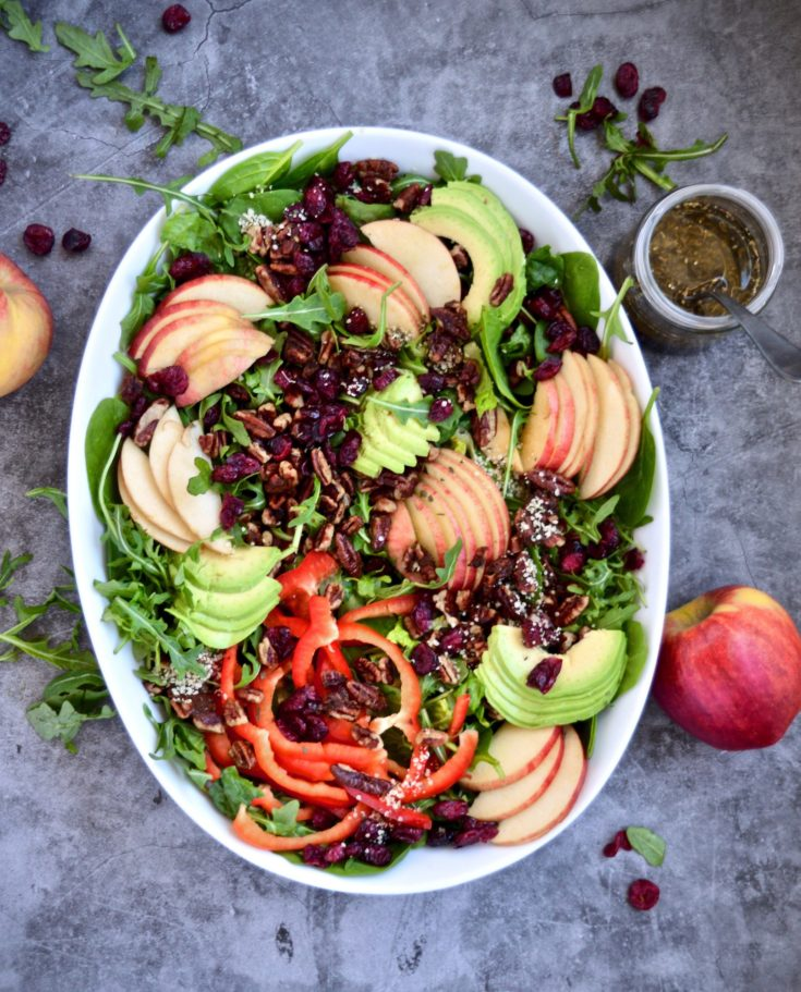 Harvest Salad with Apple's and Sweet Balsamic