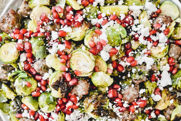 Roasted Brussels Sprouts with Sausage