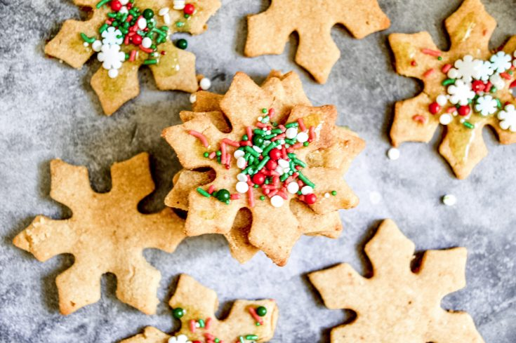 Paleo Cut-Out Skinny Sugar Cookies (Vegan)