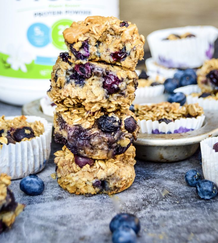 Blueberry Protein Oatmeal Cups