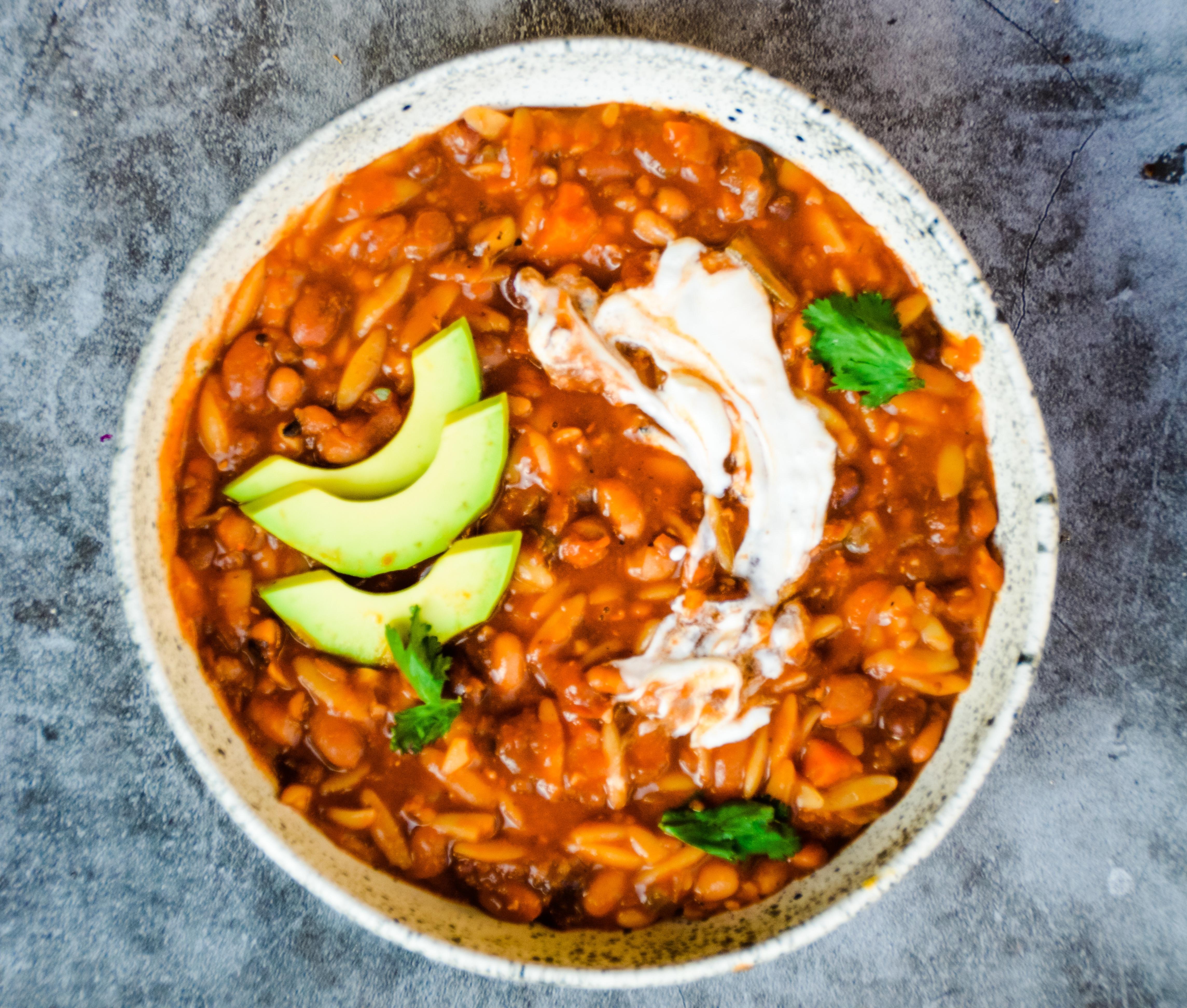Instant Pot Vegan !0 bean taco soup