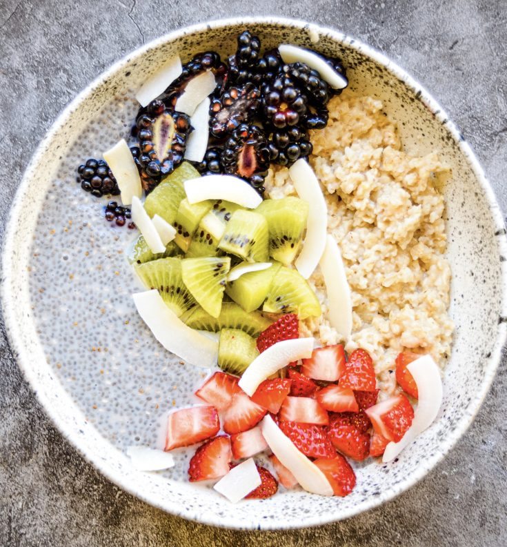 Chia Pudding and Oats Breakfast Bowl