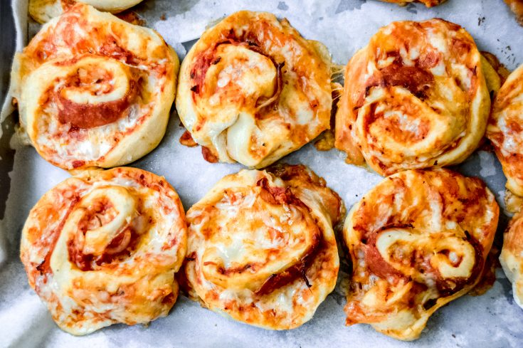 Pizza Pinwheels with Homemade Dough