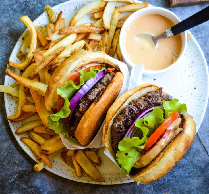 Juicy Indoor Burgers + Sauce