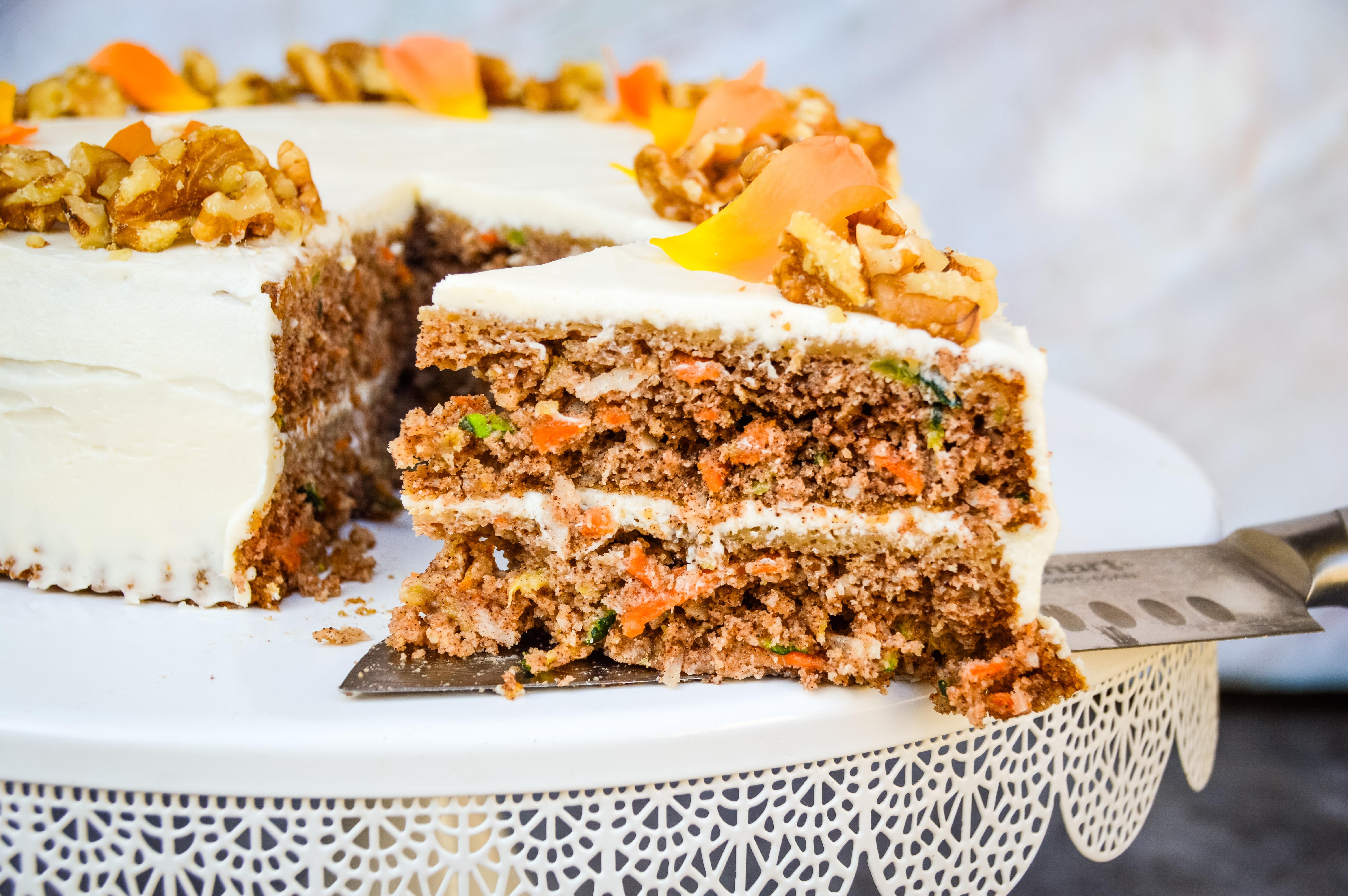 This Healthy Carrot & Zucchini Cake Recipe