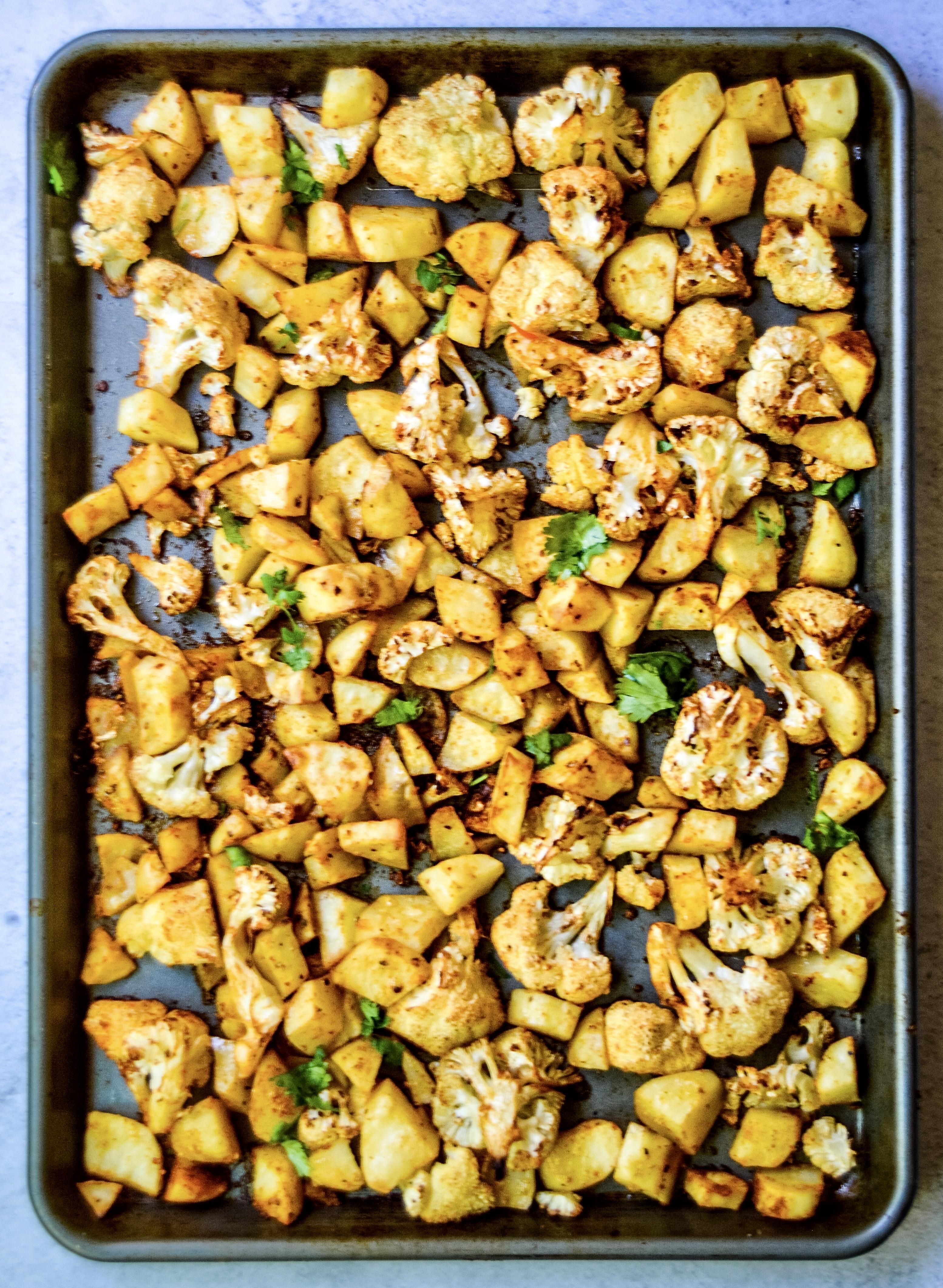 Sheet Pan Taco Spiced Cauliflower & Potatoes