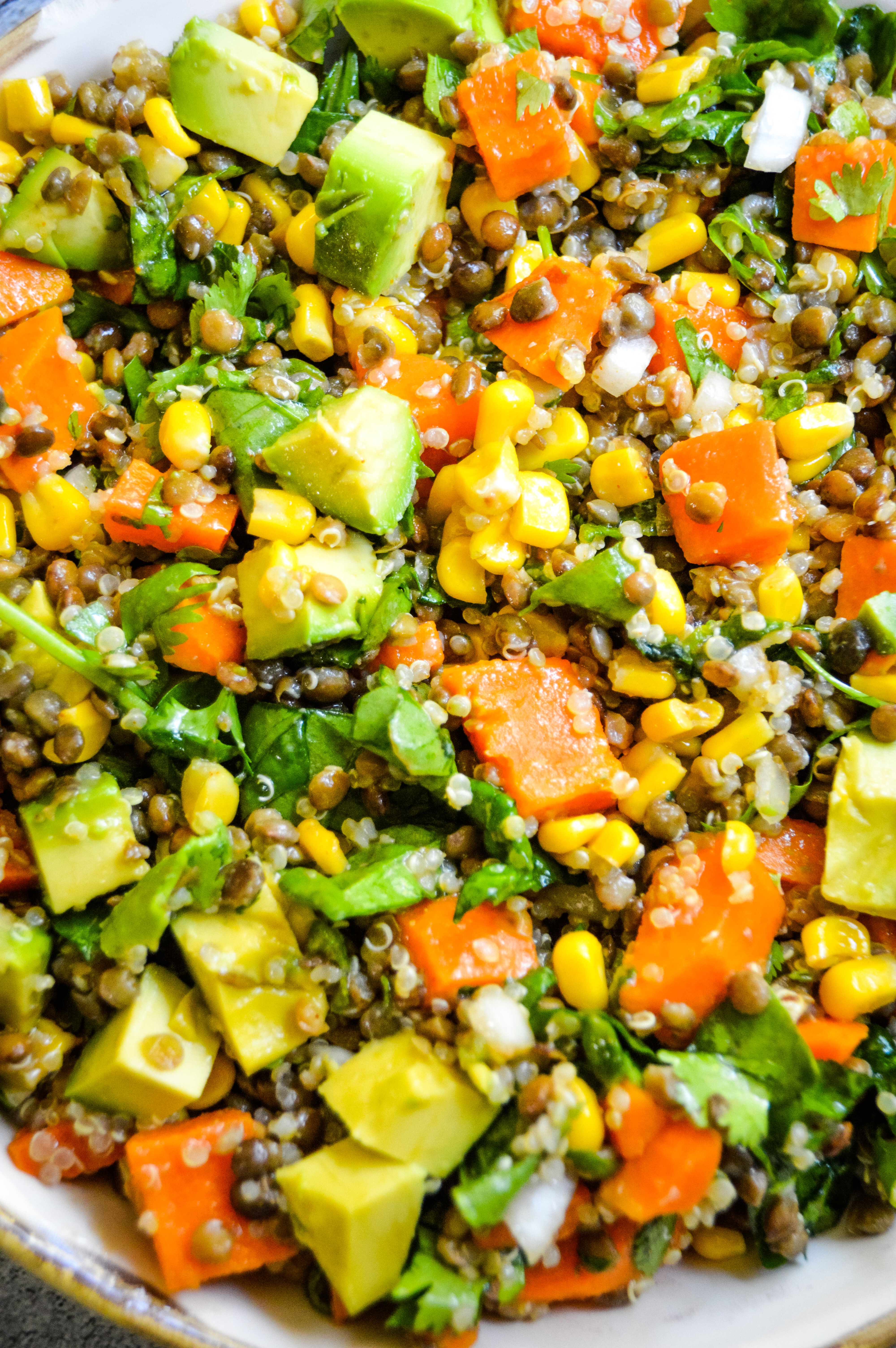 Sweet Potato & Lentil Salad