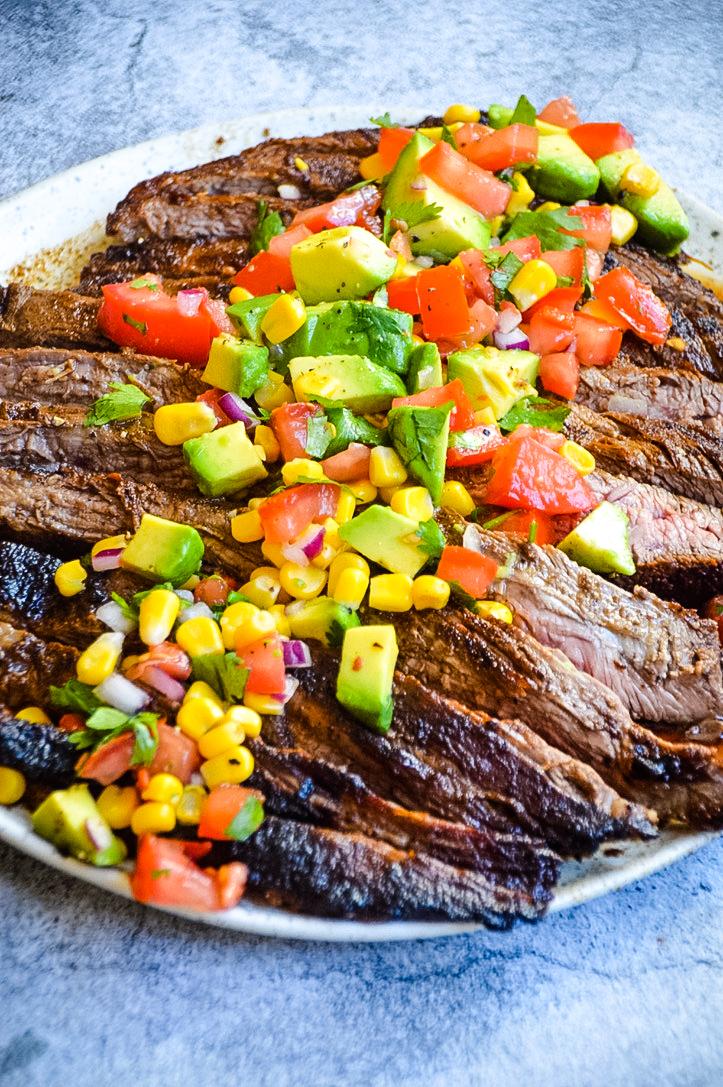Flank Steak & Avocado Salsa