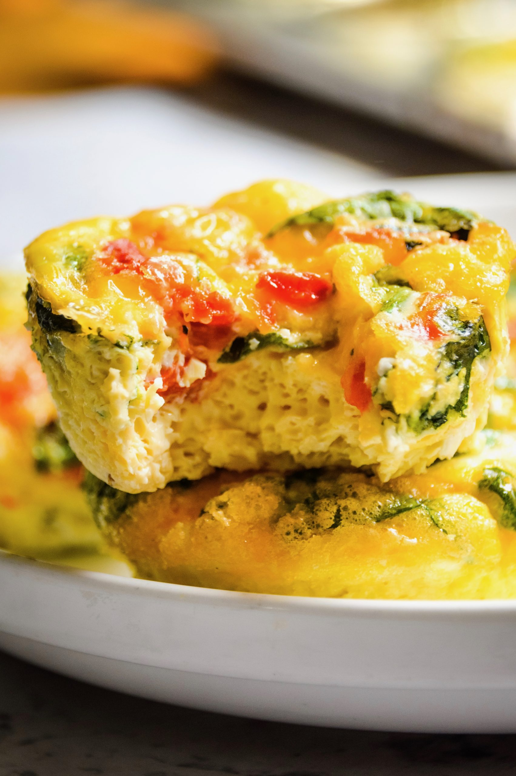 Roasted Red Pepper & Spinach Egg Cups