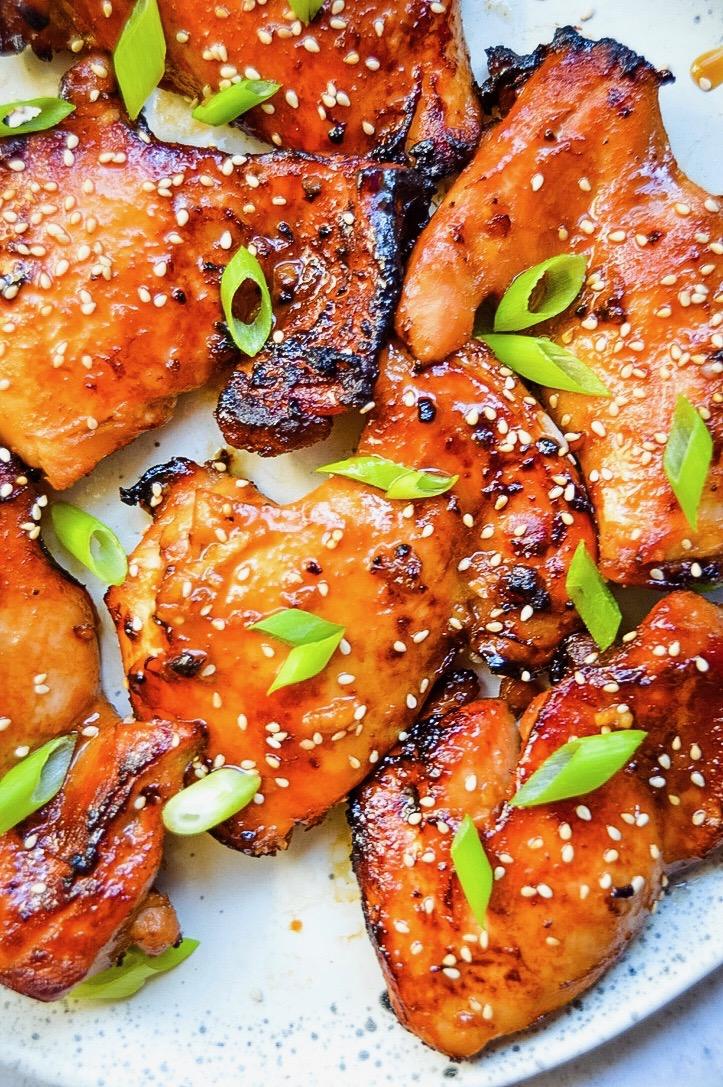 Asain Glazed Chicken Thighs