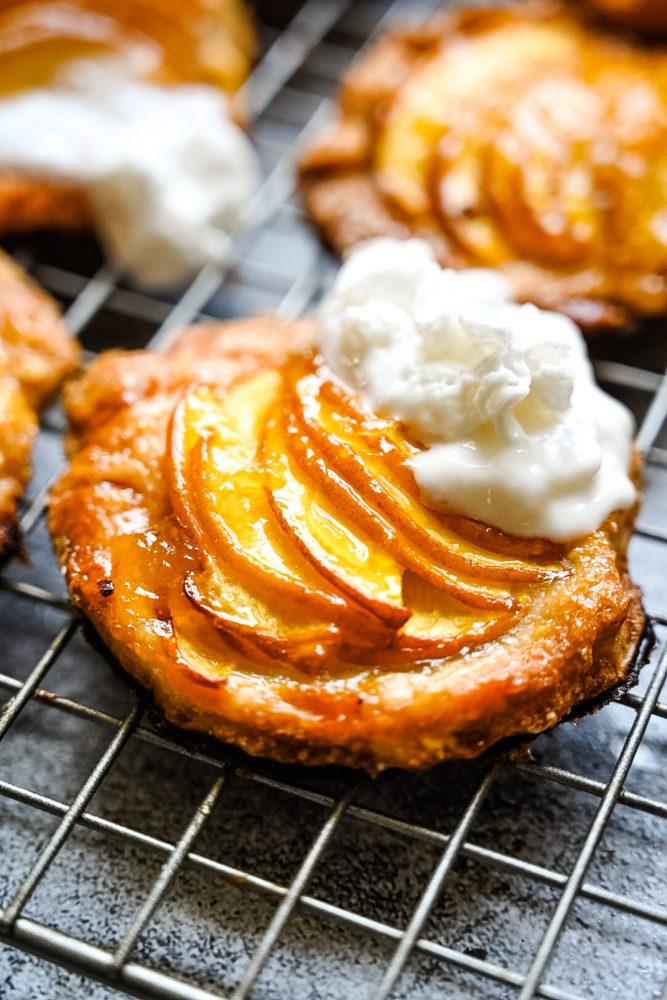 mini peach galette