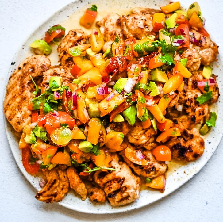 Peach Chipotle Salsa Chicken